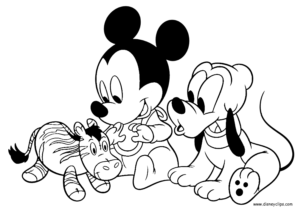 1000x704 Mickey Coloring Pages Fresh Baby Mickey Mouse And Friends Coloring