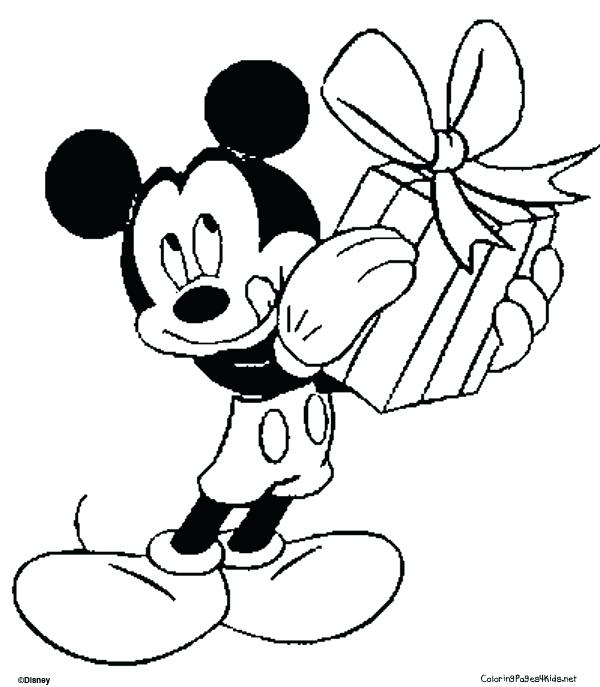 600x687 Mickey And Minnie Christmas Coloring Pages Brexitbook Club