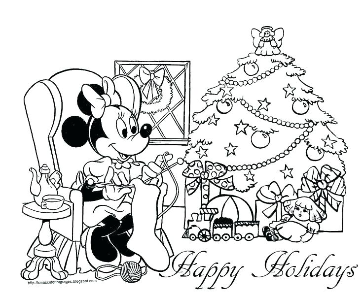 736x601 Free Printable Disney Christmas Coloring Pages Coloring Pages Free