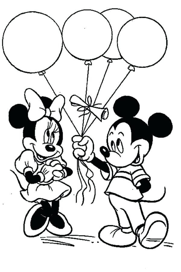 Mickey And Minnie In Love Coloring Pages at GetDrawings.com | Free ...