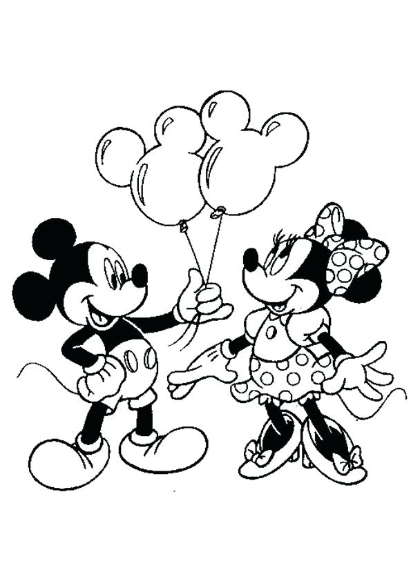 595x842 Mickey And Minnie Colouring Pages To Print Free Minnie Mouse