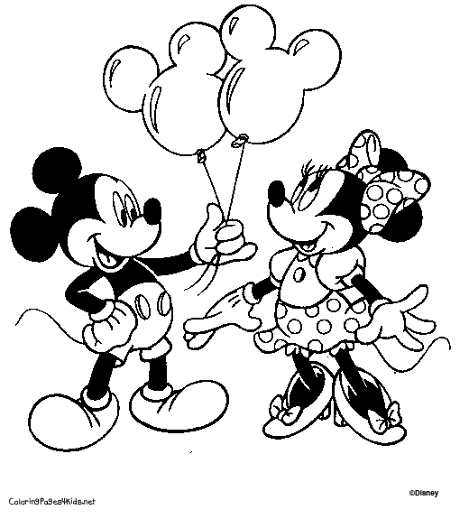 520x575 Mickey Mouse And Minnie Mouse Coloring Pages
