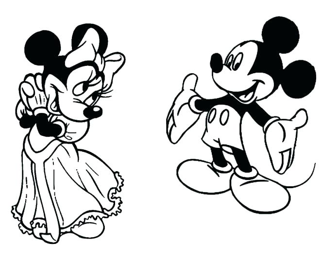 665x532 Minnie And Mickey Mouse Coloring Pages Minnie And Mickey Kissing