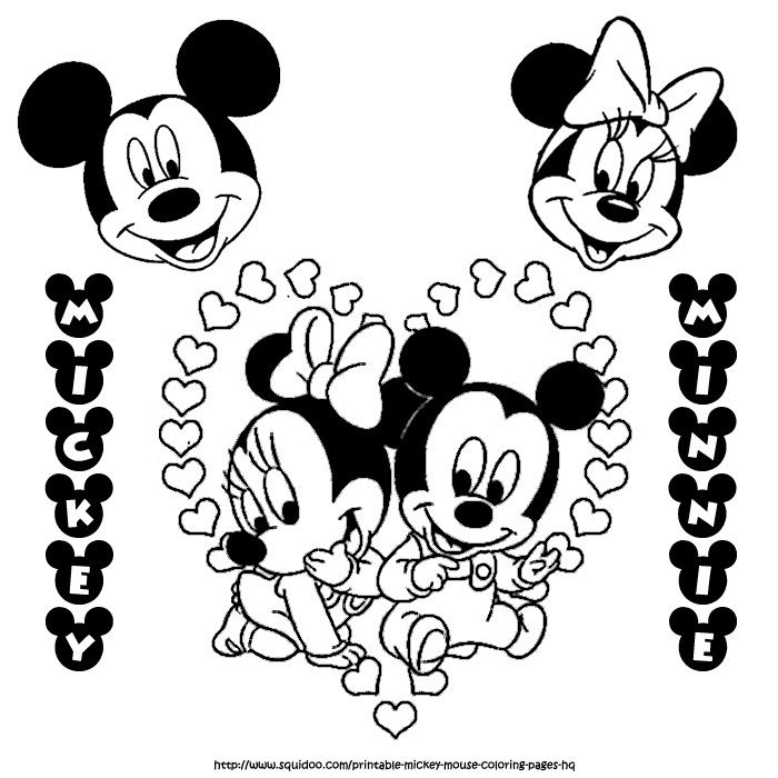 Mickey And Minnie Mouse Kissing Coloring Pages_