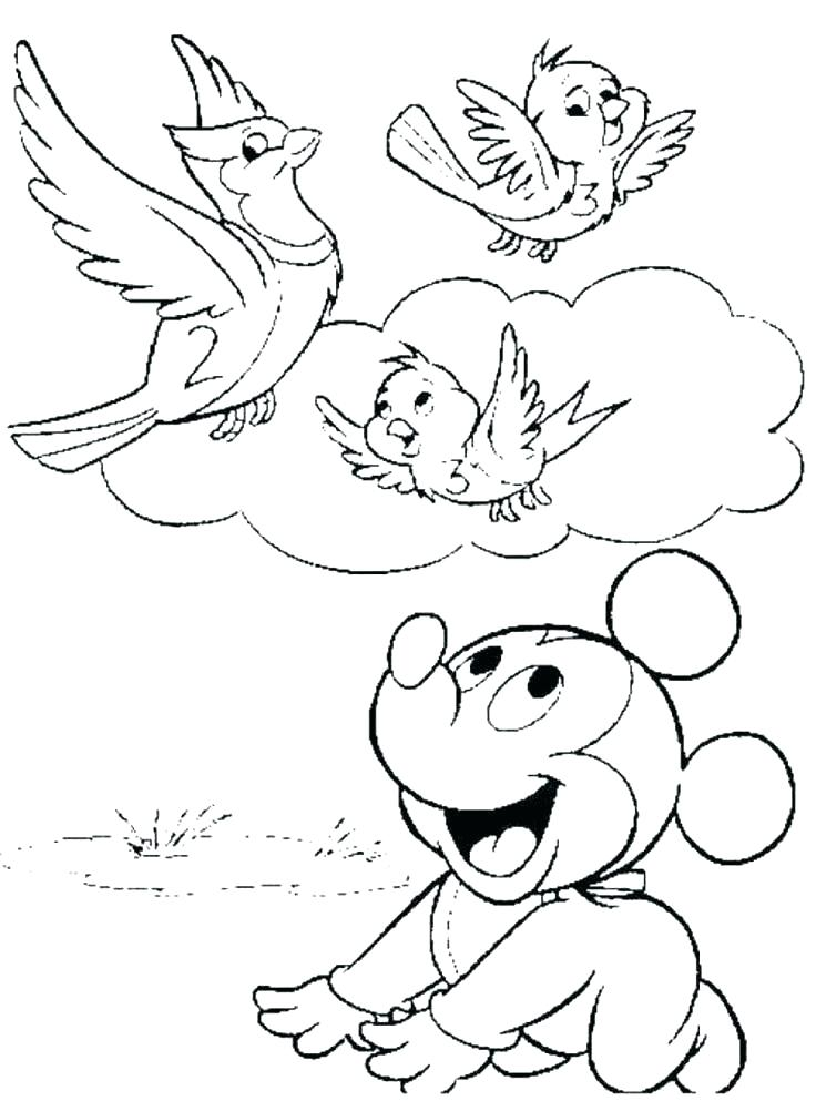 Mickey And Pluto Coloring Pages