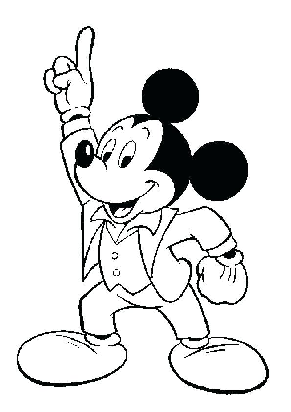 595x842 Mickey Mouse Birthday Coloring Pages Pdf Printable Coloring Mickey