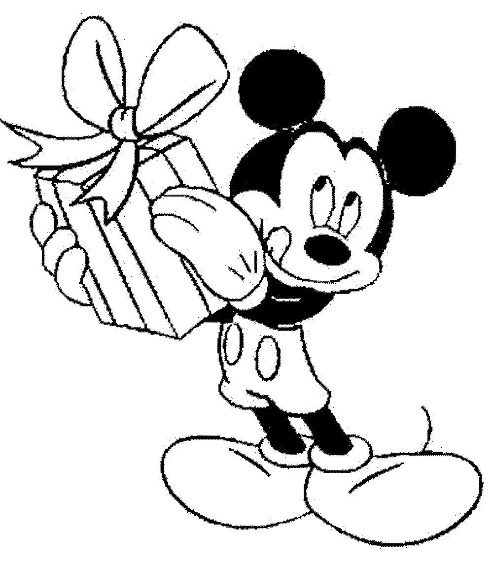 1000x1145 Mickey Mouse Birthday Coloring Pages