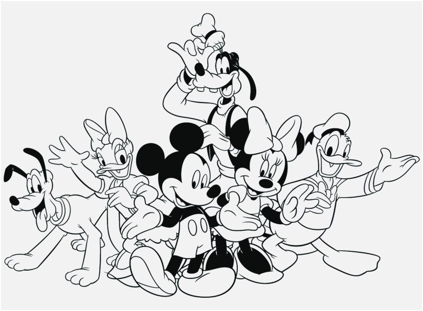 827x609 Mickey Mouse Christmas Coloring Pages Concept Mickey Mouse