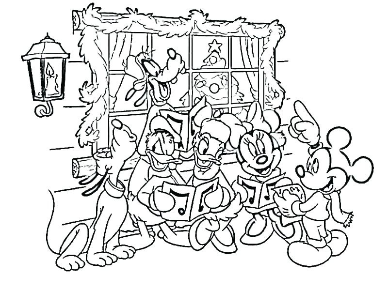 800x601 Mickey Mouse Christmas Coloring Pages Printable Mickey Mouse