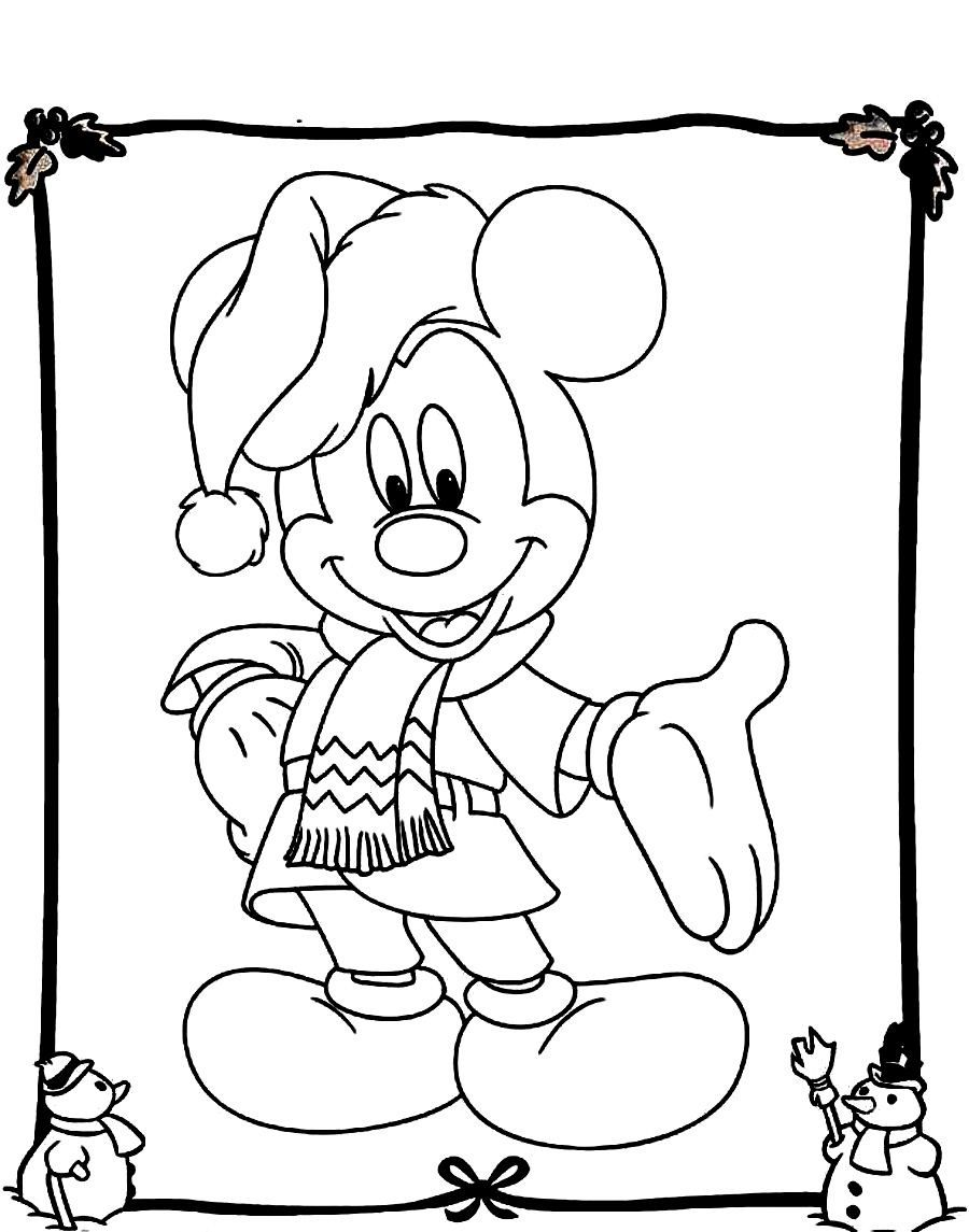 900x1145 Mickey Mouse Christmas Coloring Pages Christmas Mickey Mouse