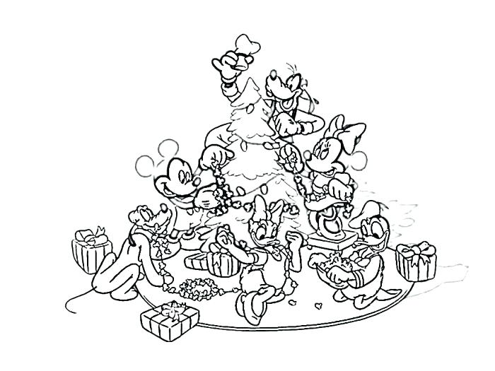 700x525 Walt Disney Christmas Coloring Pages
