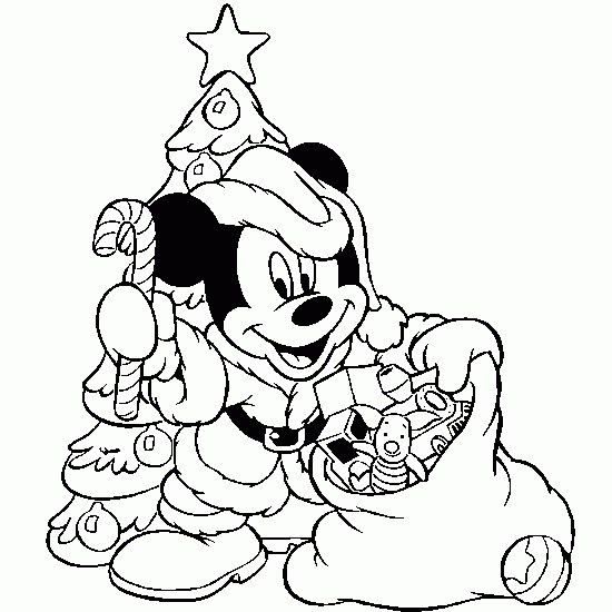 550x550 Coloring Pages Disney Christmas On Micky Mouse Coloring Page