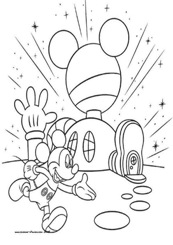 595x842 Mickey Mouse Clubhouse Coloring Pages