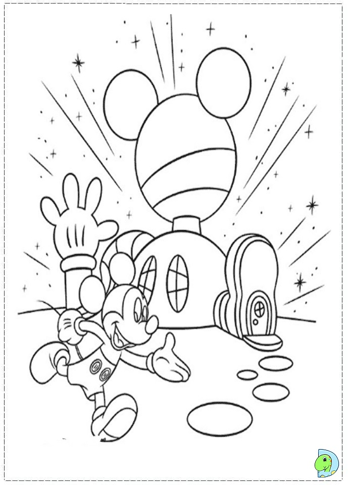691x960 Mickey Mouse Clubhouse Coloring Pages
