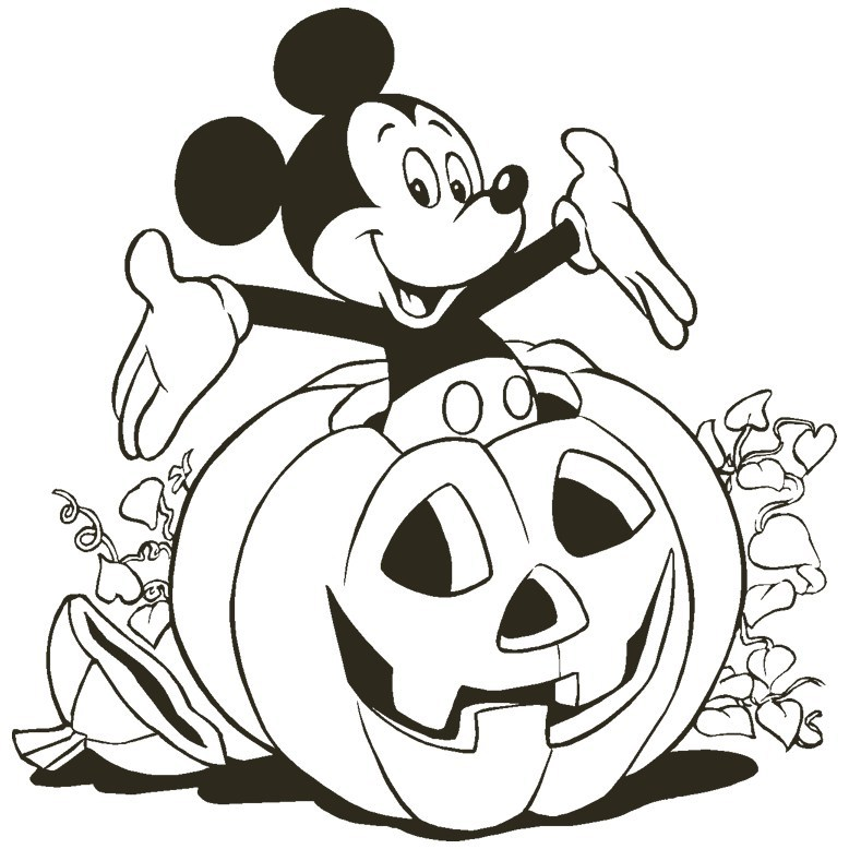 778x778 Mickey Halloween Coloring Pages
