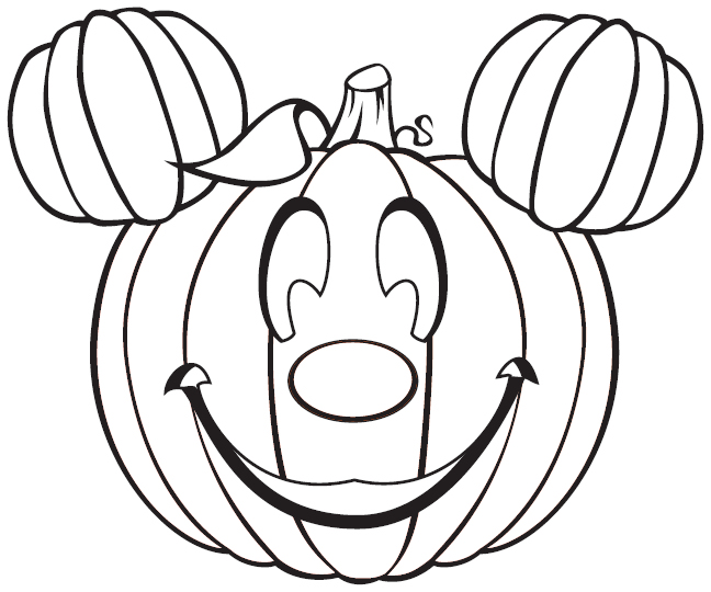 648x540 Mickey Mouse Halloween Coloring Pages