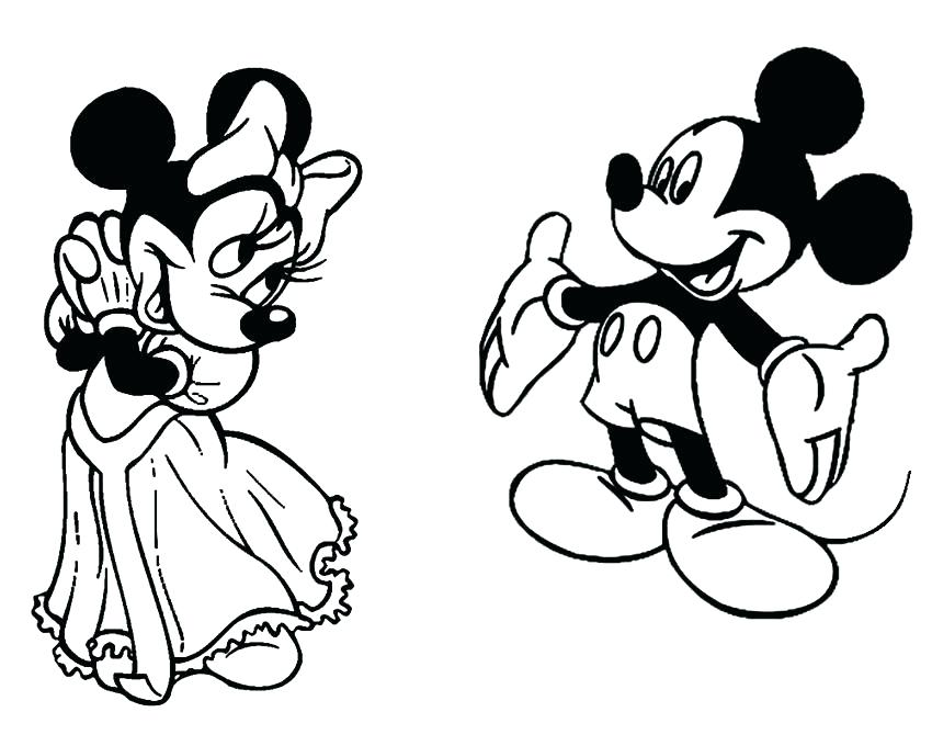 850x680 Mickey And Minnie Coloring Pages To Print