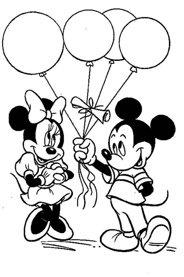600x904 Mickey And Minnie Mouse Coloring Pages To Print Best