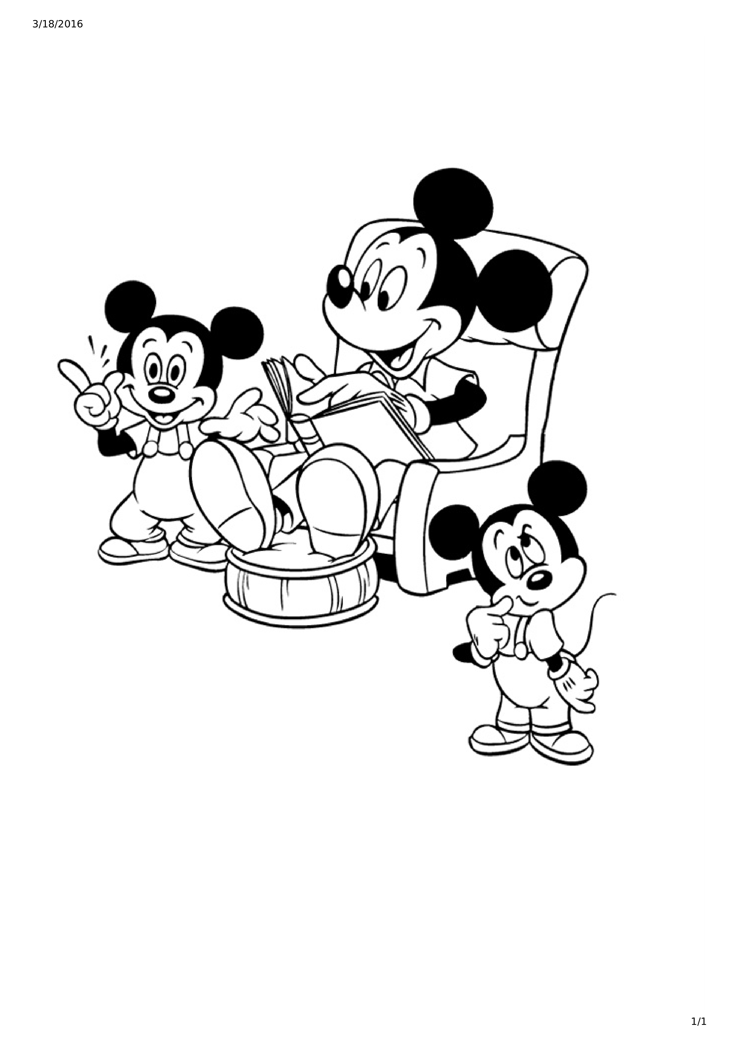 2483x3513 Mickey Mouse And Friends Coloring Page For Kids