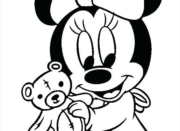 585x425 Baby Mickey Mouse Clubhouse Coloring Pages Mickey Mouse Baby