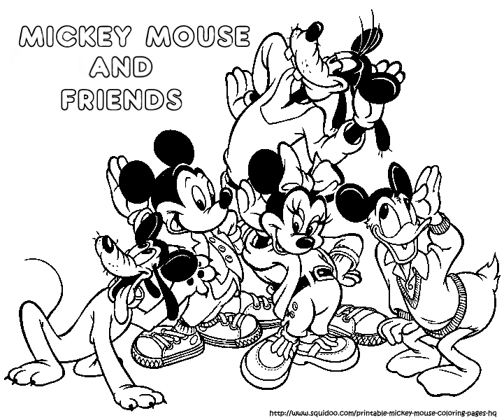 721x600 Perfect Mickey And Friends Coloring Pages For Your Colori