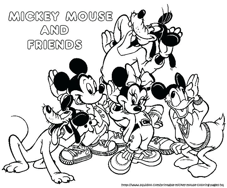 721x600 Mickey Mouse Coloring Pages Printable Mickey Mouse Coloring Pages
