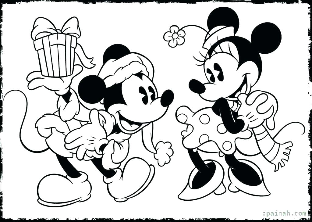 1024x728 Mickey And Minnie Coloring Page Mickey Sheets Kissing Mouse