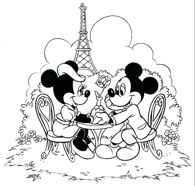 802x766 Mickey And Minnie Coloring Pages Mickey And Coloring Pages