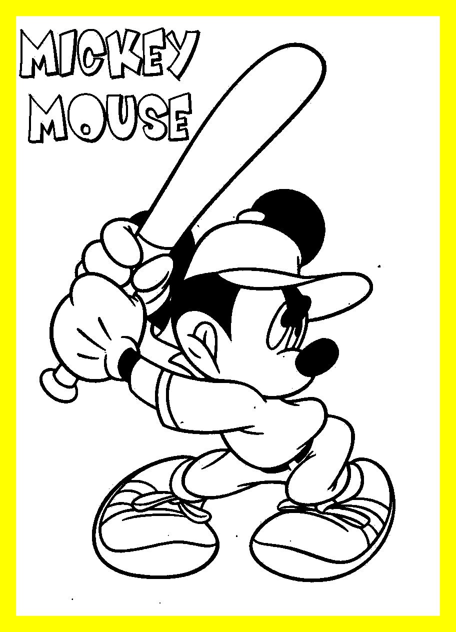 912x1264 Awesome Mickey Mouse Sport U Minnie Coloring Pages Of Printable