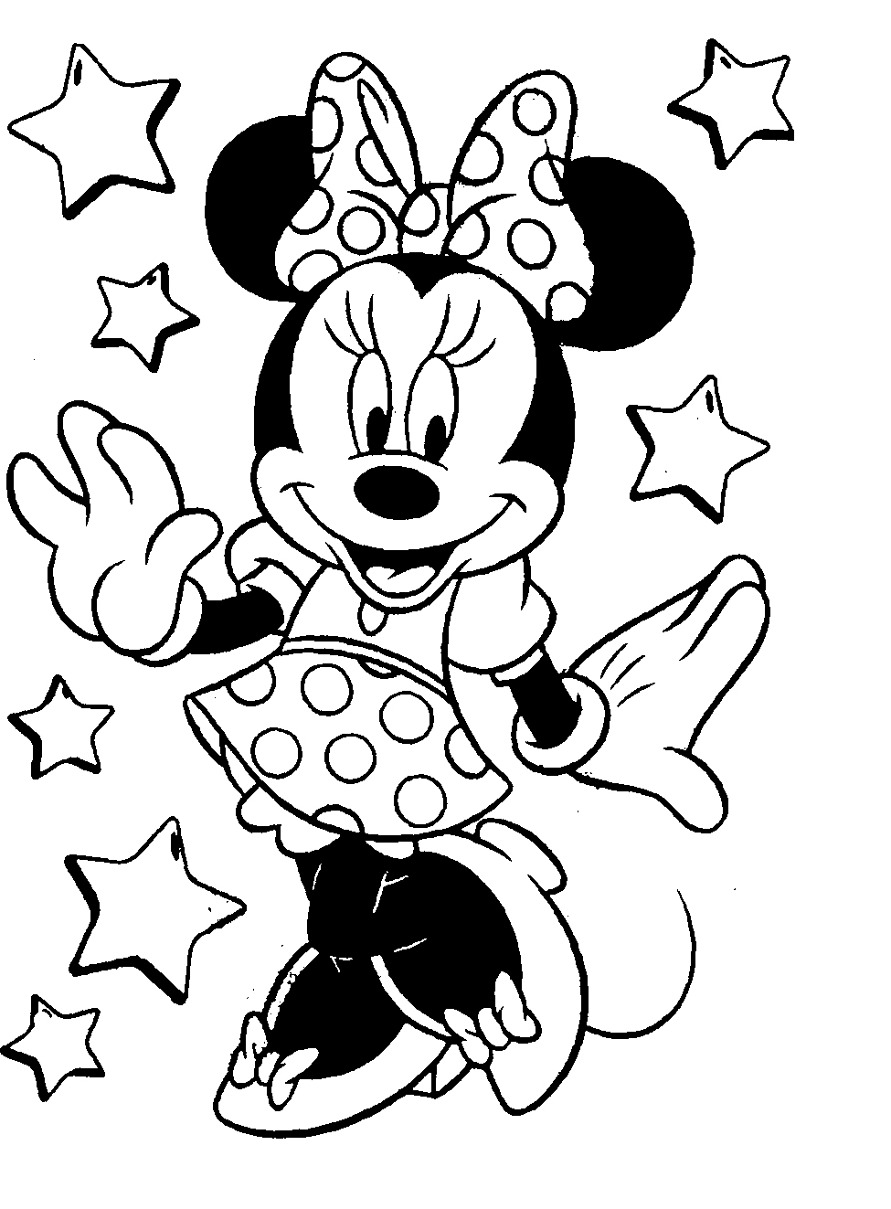 975x1323 Coloring Pictures Of Minnie Mouse