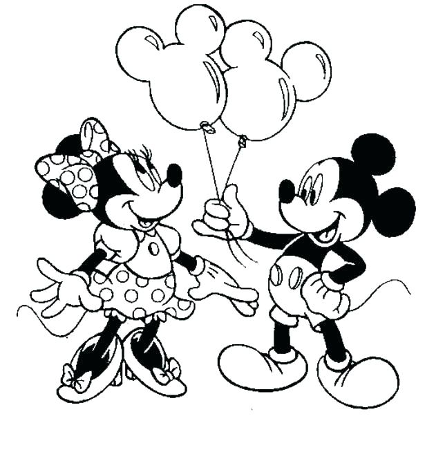 615x680 Mickey And Minnie Mouse Coloring Pages