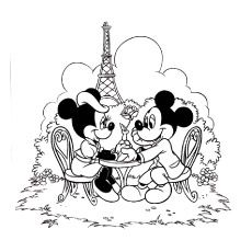 230x230 Print Coloring Image Minnie Mouse And Mice