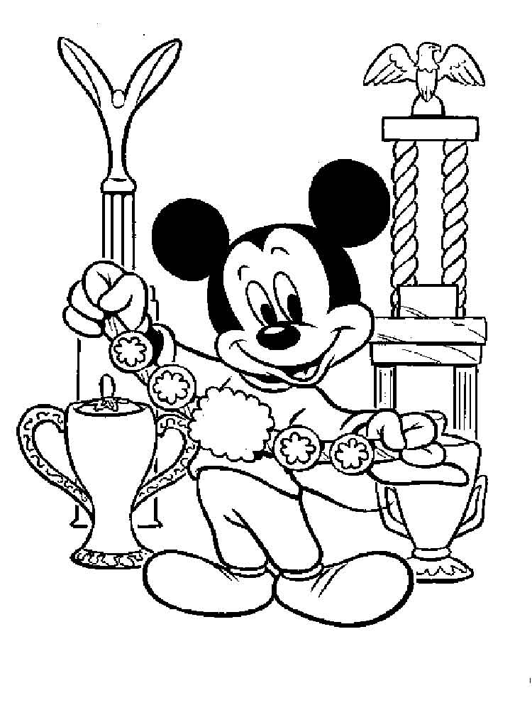Mickey Mouse Baseball Coloring Pages