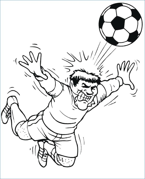 600x741 Mickey Mouse Soccer Coloring Pages