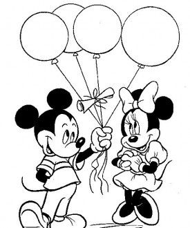 275x330 Mickey Mouse Coloring Pages Pinturas