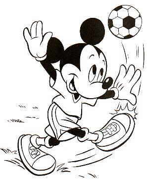 297x363 Mickey Mouse Football Coloring Page