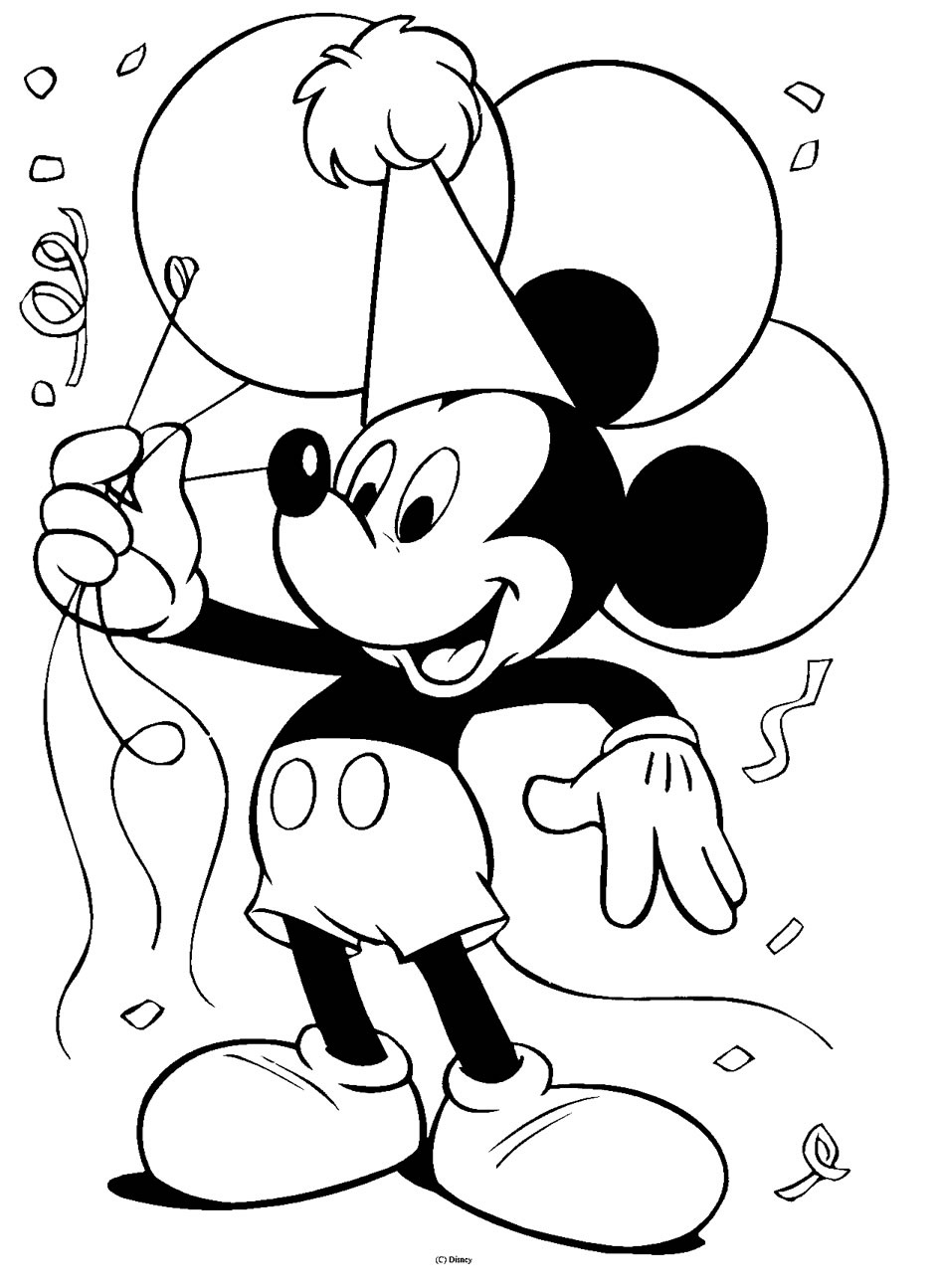 944x1295 Fresh Color Drawing To Print Famous Characters Walt Disney Mickey