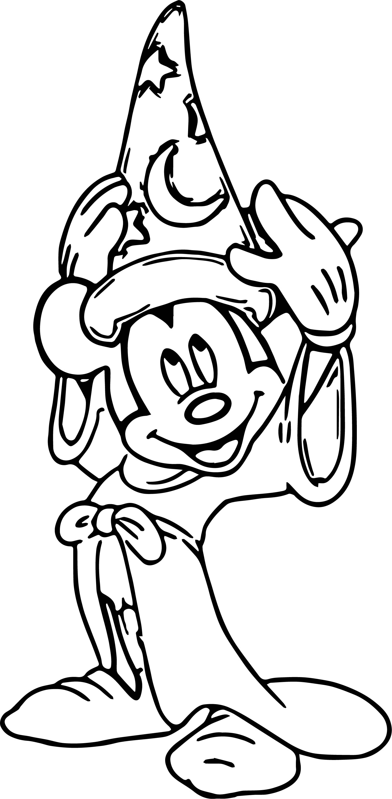 1538x3133 Magic Mickey Mouse Hat Coloring Pages Wecoloringpage
