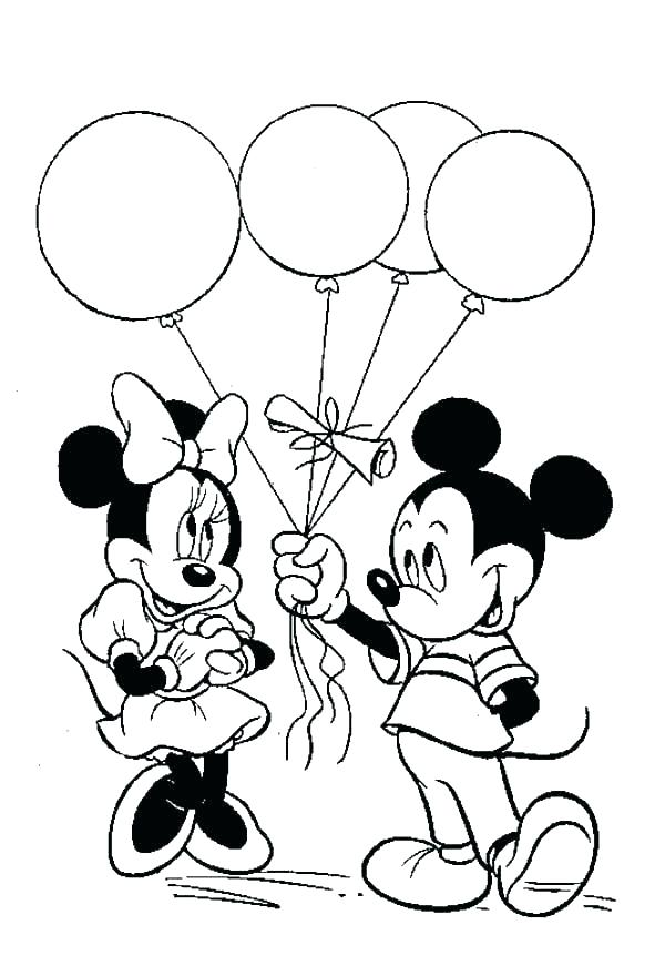 600x880 Mickey Mouse Coloring Pages Free Printable Coloring Page Of Mickey