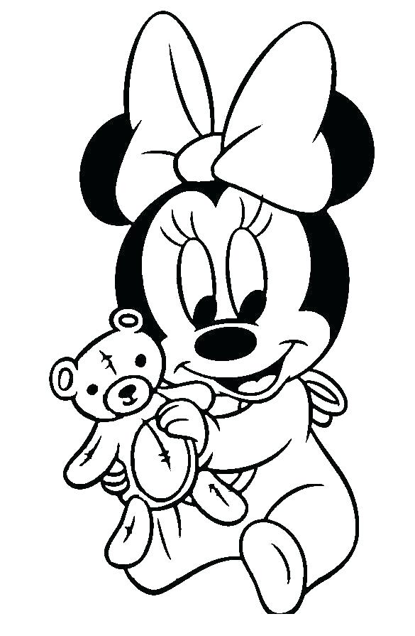 585x895 Mickey Mouse Baby Coloring Pages Coloring Mickey Mouse Clubhouse