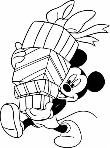 371x500 Mickey Mouse Christmas Coloring Pages Mickey Mouse Christmas