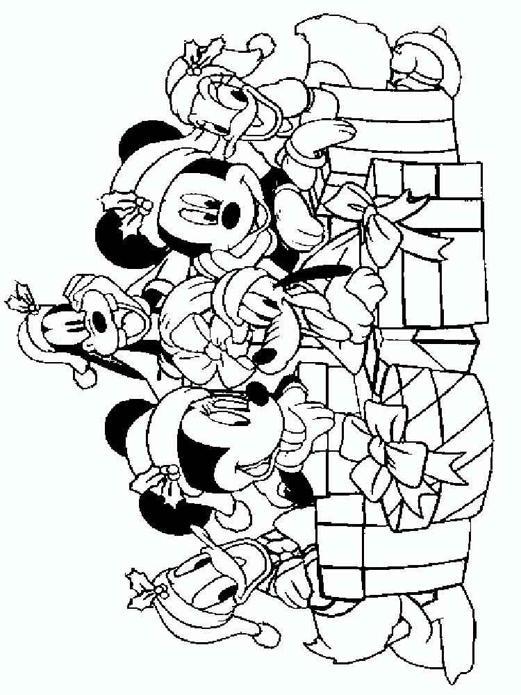 750x1000 Mickey Mouse Christmas Coloring Pages Free Printable Mickey Mouse