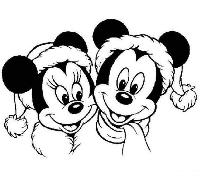 846x768 Opulent Ideas Mickey Mouse Christmas Coloring Pages Print