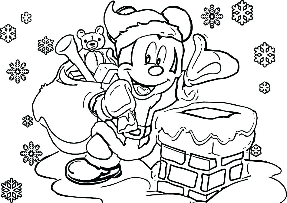 Mickey Mouse Christmas Coloring Pages Free Print At GetDrawings Free  Download