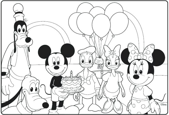 698x477 Mickey Printable Coloring Pages Free Mickey Mouse Clubhouse