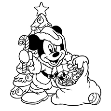 230x230 Top Free Printable Christmas Coloring Pages Onli On Mickey Mouse