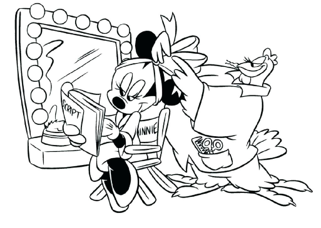 1024x728 Mickey Mouse Christmas Coloring Pages Free Print