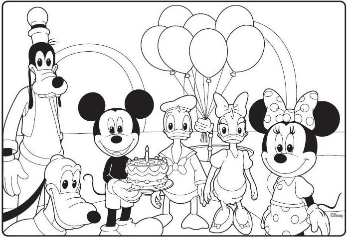 698x477 Mickey Mouse Clubhouse Birthday Coloring Page Jeremy