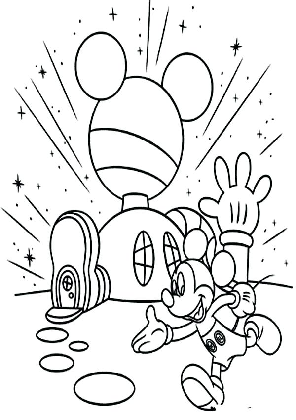 600x849 Mickey Mouse Clubhouse Coloring Page Mickey Mouse Clubhouse Mickey
