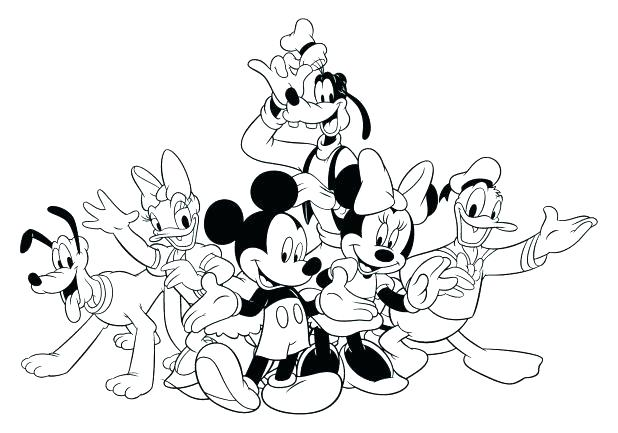 618x433 Mickey Mouse Clubhouse Coloring Pages Mickey Mouse Clubhouse